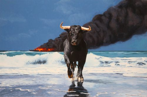 Animals and Statues Serve as the Protagonists of Startlingly Realistic Post-Apocalyptic Paintings by Josh Keyes