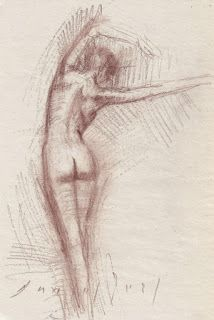 Ballet dancer and seated nude