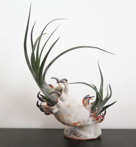 Claws and Teeth Emerge From Otherworldly Ceramic Vessels by Gregory Knopp