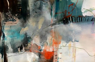 "Contemporary Abstract Painting ""Fences and Freedom"" by Intuitive Artist Joan Fullerton"