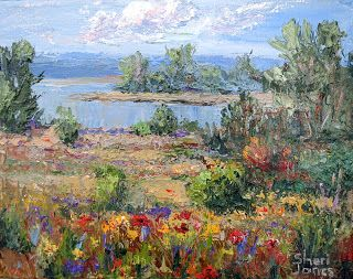 Early Morning on the Lake -Win this painting by Sheri Jones