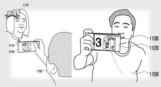 Samsung Patents Wraparound Display That Aids in Photos and Selfies