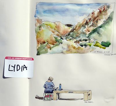 Watercolor with Urban Sketchers at Mission Trails Visitor Center