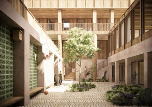 BOGDAN & VAN BROECK and BC ARCHITECTS & STUDIES Design Centre for Drug Users in Brussels