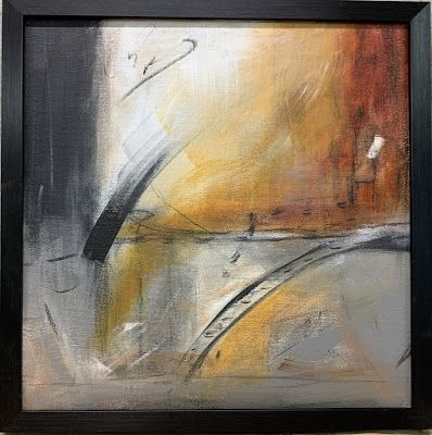 "Coronavirus Art Series, Mixed Media Painting, Framed Art,Contemporary Art ""A Way Out"