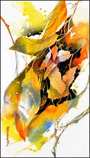 Leaves..Watercolor..Texas Artist..Rae Andrews
