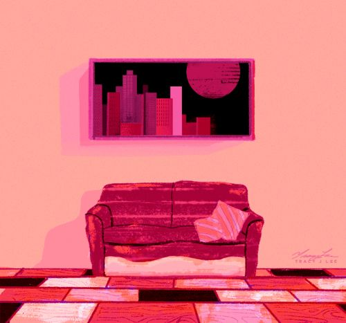 Vanishing Thoughts Explored in High Contrast GIFs by Tracy J Lee