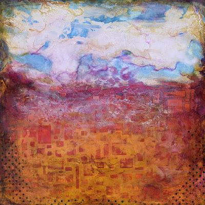 """BOGO - Mixed Media, Abstract Painting, Contemporary Art """"Counting Clouds"""" by Santa Fe Contemporary Artist Sandra Duran Wilson"""