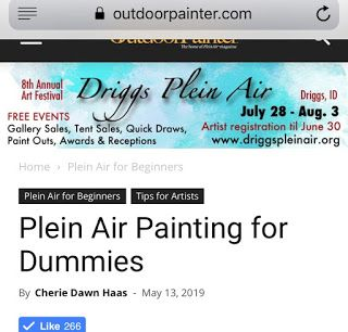 Outdoorpainter.com article on advice for beginning plein air painters