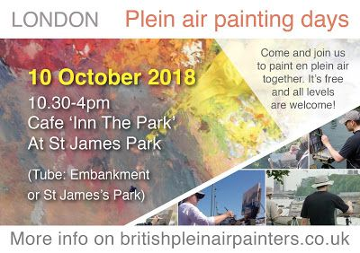 Plein Air painting days in London