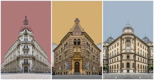 Zsolt Hlinka's Photo Collages Portray the Buildings of Budapest in Perfect Symmetry