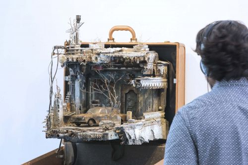 Miniature Installations Built Inside Suitcases Detail the Homes That Refugees Leave Behind