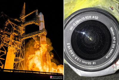 This is What a Rocket Launch Does to a Camera 45 Yards Away