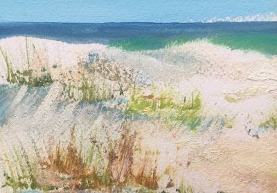 """Contemporary Beach Miniature, """"Sand Dunes,"""" by Amy Whitehouse"""