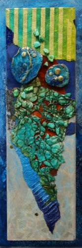 "Contemporary Abstract Painting, ""REEF, 051417"" by Colorado Mixed Media Artist Carol Nelson"