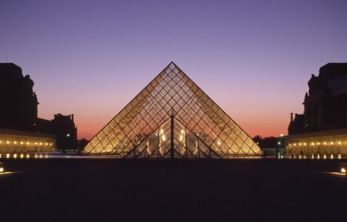 The Evolution of Light in IM Pei's Museums, from Dark Concrete Voids to Luminous Glass Pyramids