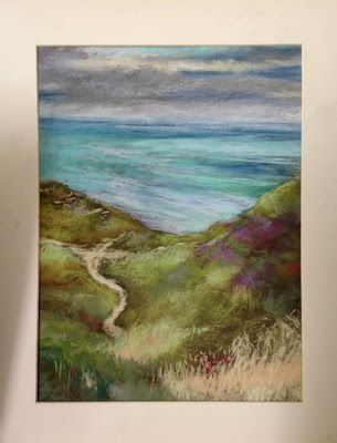 Near South Stack, pastel plein air