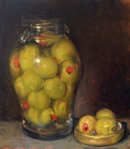 Stuffed Olives in a Jar