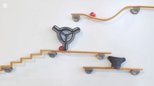 A DIY Construction Kit Lets Users Create an Intricate Obstacle Course on Any Magnetic Surface