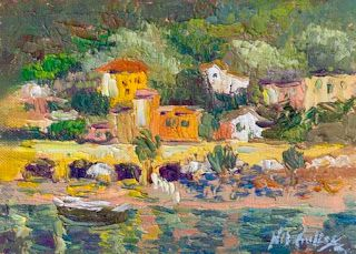 Monterosso Oil Painting by Contemporary Impressionist Niki Gulley