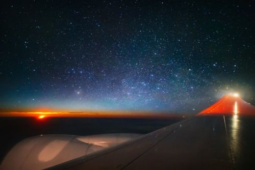 Shooting a Milky Way Moonrise from an Airplane Seat