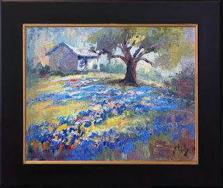 New Texas Bluebonnet and Wildflower Field by Contemporary Impressionist Niki Gulley