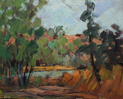 "Contemporary Impressionist Landscape Painting,Colorado Landscape, Fine Art Oil Painting,""My Kind of Backyard"" by Colorado Contemporary Fine Artist Jody Ahrens"