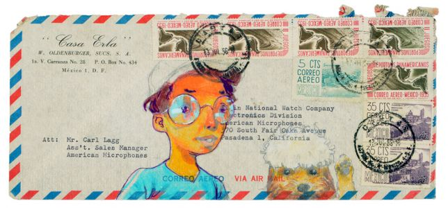 More Than 90 Artists Create Original Works on Vintage Envelopes for 'Couriers of Hope'