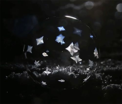 Winter's Magic: Dramatic Ice Crystals Formed in Ephemeral Spheres