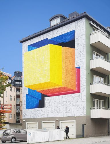 Mural by Astro in Linköping, Sweden