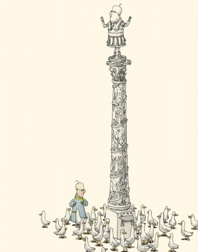 Crowded monument