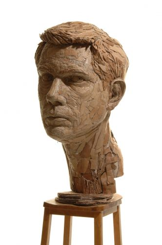 Figurative Sculptures Formed From Recycled Cardboard by James Lake