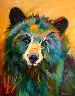 Artoutwest Bear art oil painting Diane Whitehead