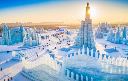 World's Largest Ice Sculpture Festival Opens in China with Chillingly-Cool Architecture
