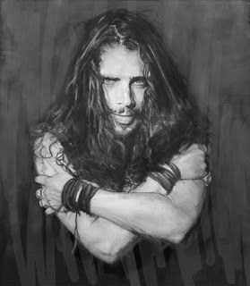 My sketch painting tribute to Chris Cornell. RiP
