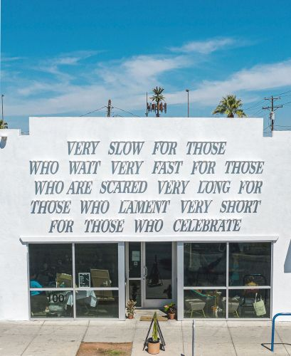 Shakespearean Wisdom Appears on a Building in Las Vegas in New Sunlight-Activated Installation by DAKU