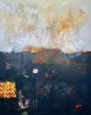 "Expressionism, Contemporary Painting, Abstract Art For Sale ""NAVIGATING THE CONTRADICTIONS"" by Contemporary Artist Liz Thoresen"