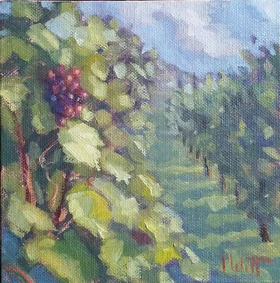 Vineyard Oil Painting Original Artwork Heidi Malott