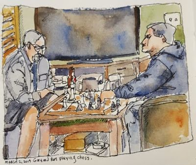 "Drawing from Life - ""Chess Retreat"""