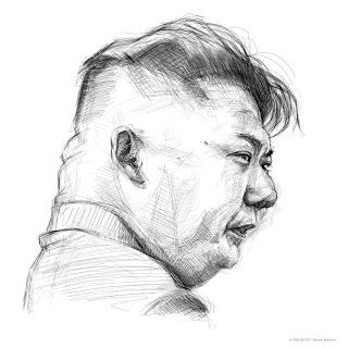 Quick sketch of Kim Jong-un