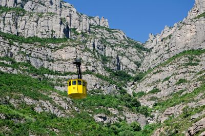 Montserrat Aerial Cable Car or Aeri, the Door to a Magic Journey