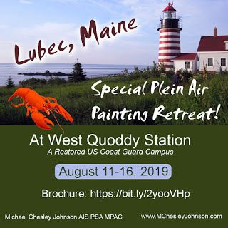 Special Plein Air Painting Retreat in Coastal Maine, August 2019