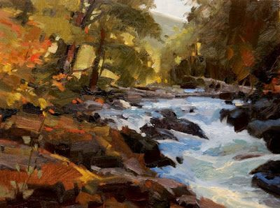 """Sol Duc River Cascade"" landscape,oil painting by robin Weiss"