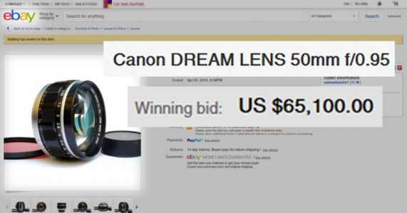 Photographer Finds His Stolen Camera Lens on eBay - It Sells for $65,100