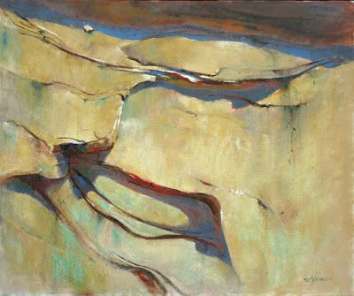 Canyon Abstract 18x24 Oil