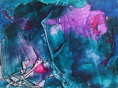 """Abstract Painting, Contemporary Art, Expressionism """"Hero's Journey"""" By Arizona Artist Cynthia A. Berg"""
