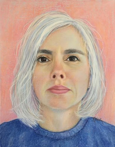 Deann's portrait in pastel by Kim Blair