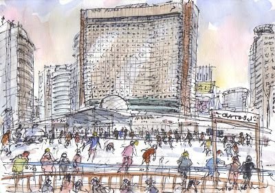 Sketches at Seoul Plaza Ice Skating Rink