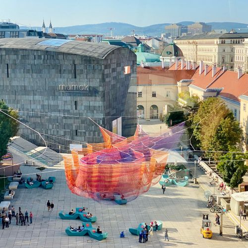 Aerial Net Sculptures Loom Over Public Squares in Janet Echelman's 'Earthtime' Installations