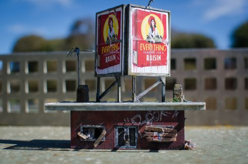 A Subversive Village of Urban Miniatures Covered in Graffiti and Tiny Murals